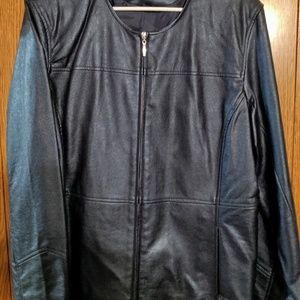 Susan Graver Faux Leather Jacket
